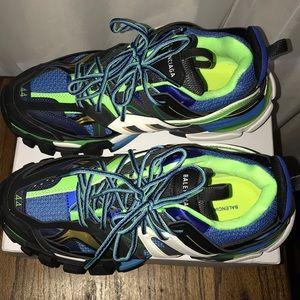 c0116a8c0eec9 Balenciaga Shoes - BALENCIAGA track trainer blue green